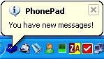 PhonePad Telephone Message Log