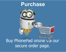 Buy PhonePad now from our secure order page.